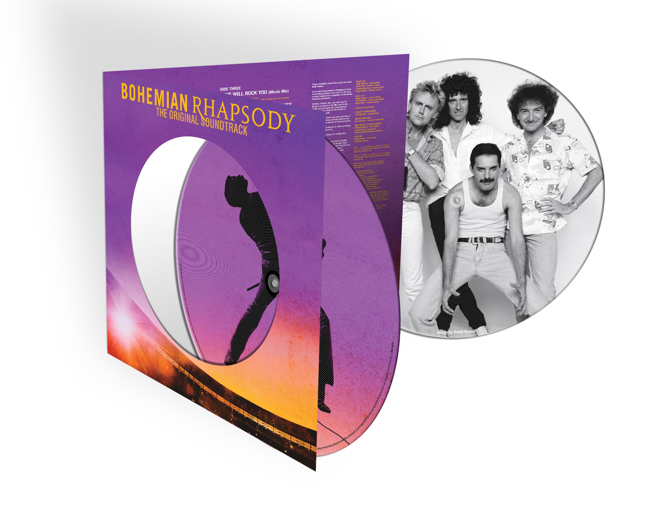 世界中で一大旋風を巻き起こし、アカデミー賞では最多4部門の栄冠に輝いた大ヒット映画『ボヘミアン・ラプソディ』のサントラ盤が、2枚組の重量盤ピクチャー・ディスク