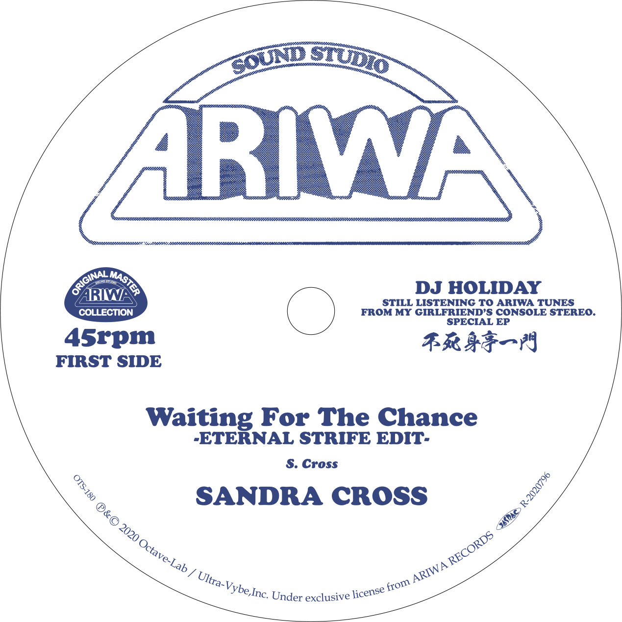 08-038 Sandra Cross/Royal Blood Waiting For The Chance (Eternal Strife Edit) / Slipping Away (Eternal Strife Edit)