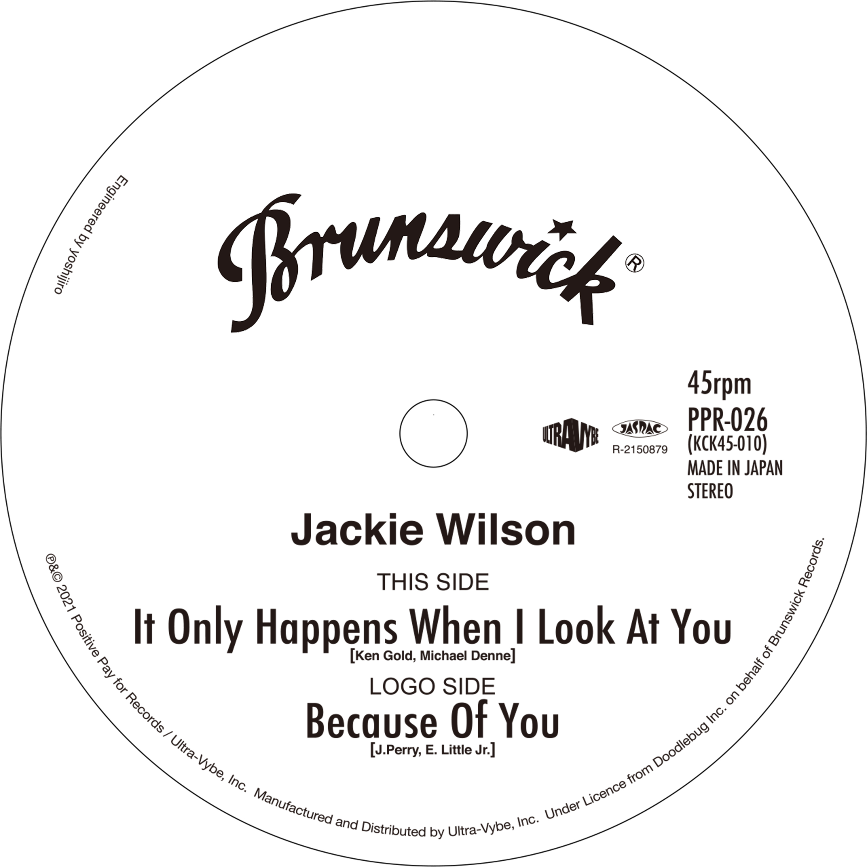 07-011 Jackie Wilson – It Only Happens When I Look At You / Because Of You