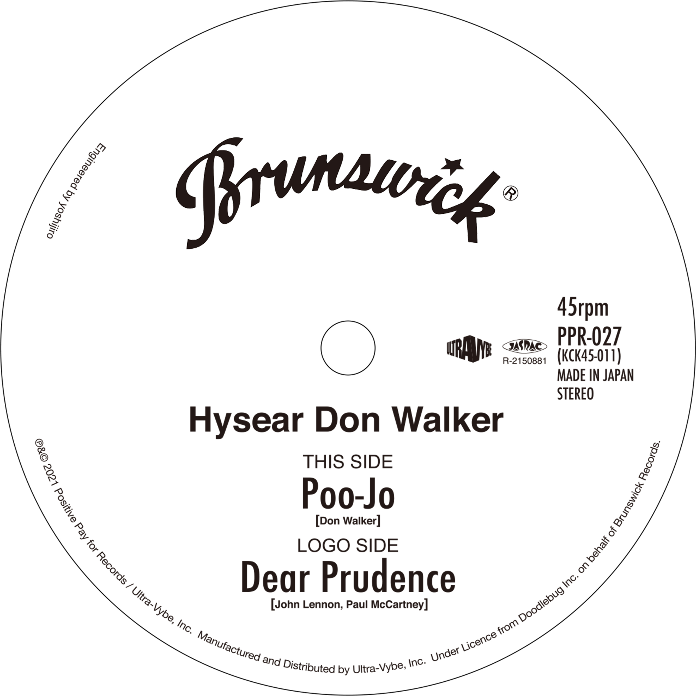 07-010 Hysear Don Walker – Poo-Jo / Dear Prudence