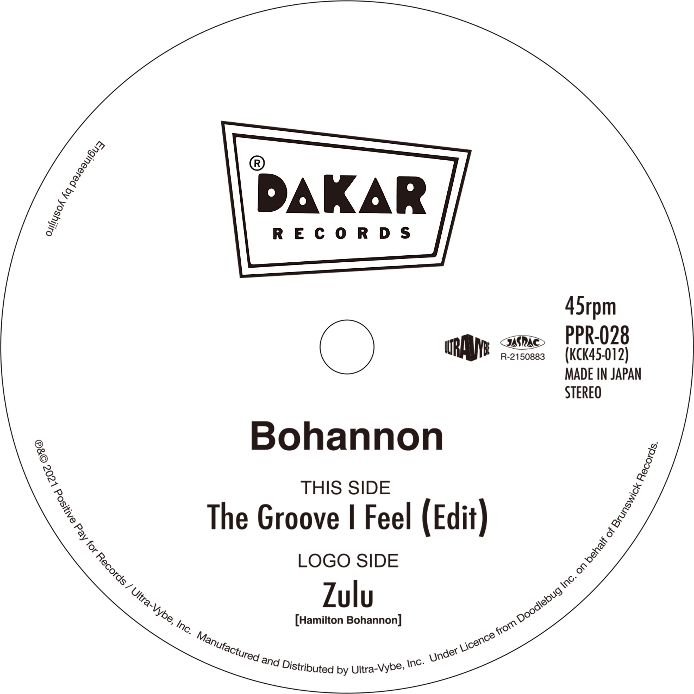 07-006 Bohannon – The Groove I Feel (Edit) / Zulu