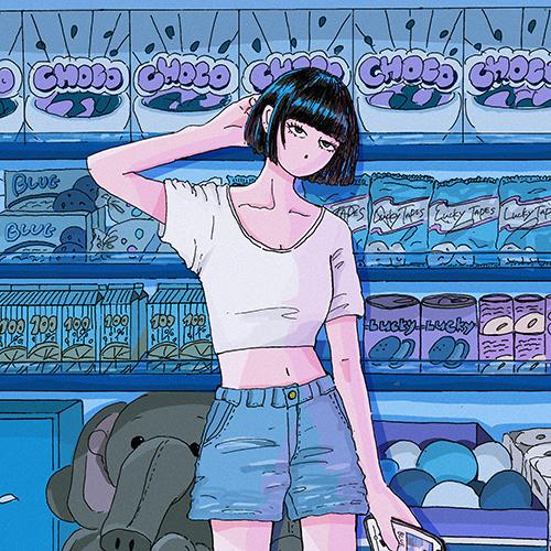 06-013 LUCKY TAPES – BLUE feat. kojikoji / Trouble